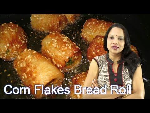 Corn flakes bread rolls | How to make Corn flakes bread rolls