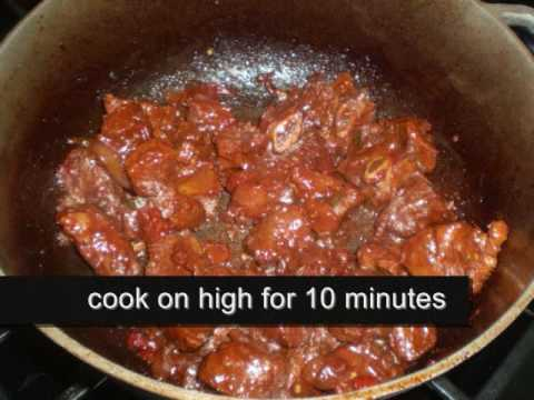 How to prepare Trini style stew beef.
