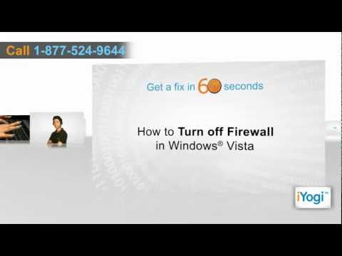 How to turn-off firewall in Windows® Vista?