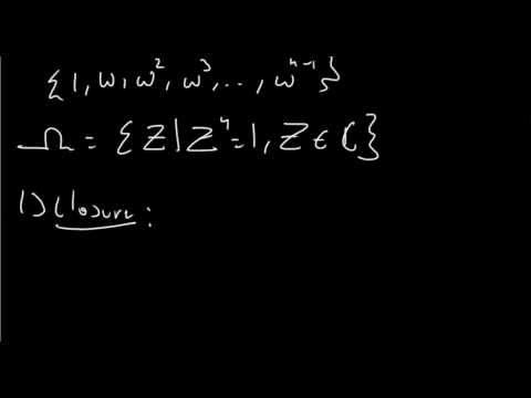 Group Theory Example - The Roots of Unity