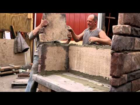 Exceptional Stone Outdoor Fireplace kit
