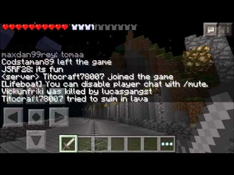 Minecraft Pocket Edition Infinite World Server! Infinity LBSG