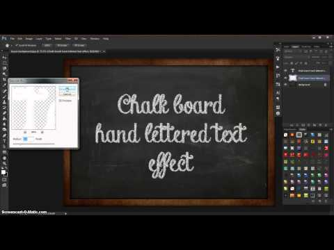 Copy of How to create your own chalk text effect on a chalkboard background