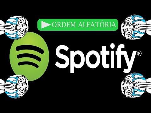 Como retirar a ordem aleatoria do Spotify.