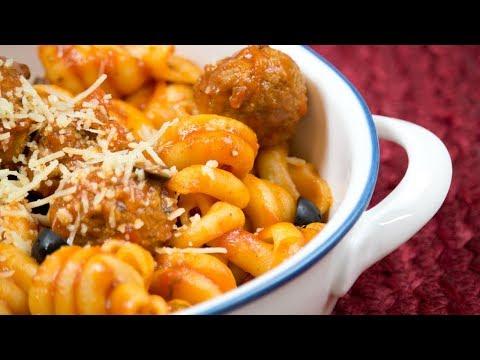 4 Minute Pressure Cooker Pasta & Meatballs