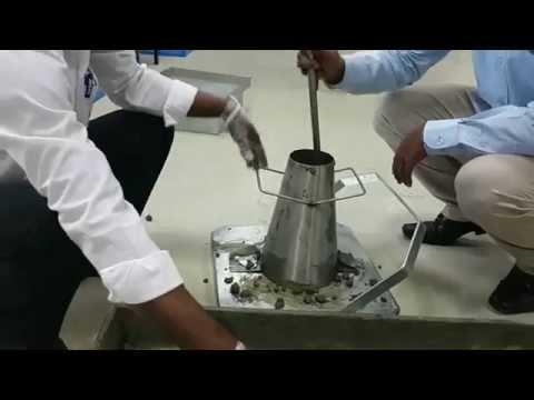 Slump Cone Test of concrete  - Civil Engineering lab experiment