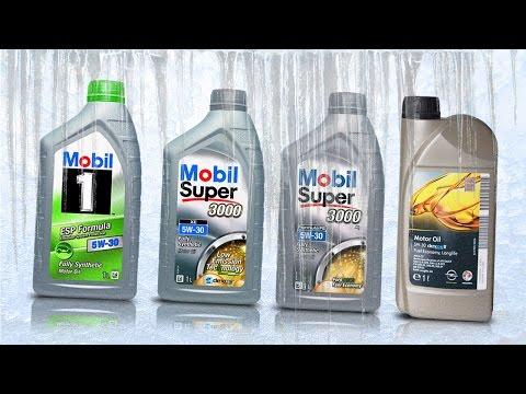 Olej Mobil 5W30 Test Zimna -30°C Mobil 1 ESP Formula, Mobil Super 3000 XE, Super 3000 FE, Opel GM