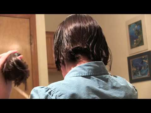 Cutting my own hair from a ponytail!