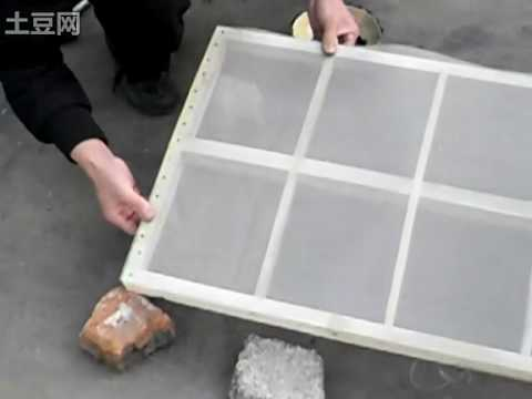 install the screen mesh on wooden frame