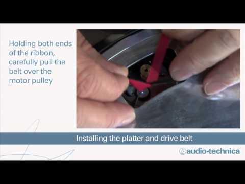 AT-LP60-USB Turntable setup