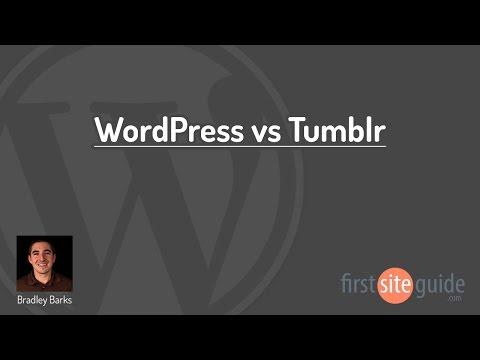 WordPress vs Tumblr Blogging Platforms Comparison