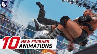 WWE 2K18 Top 10 New Finisher Animations