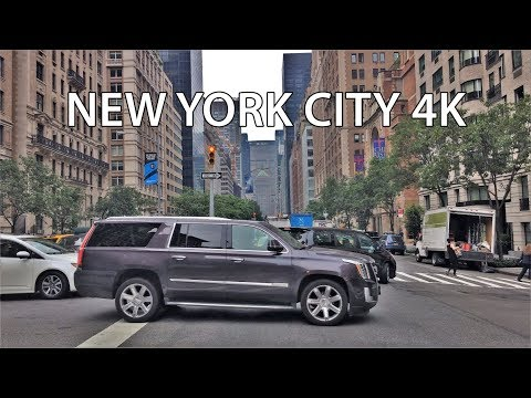 Driving Downtown 4K - NYC's Rich Upper East Side - New York USA