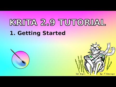Krita 2.9 Tutorial #1. Getting Started