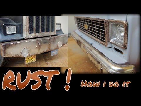 RC4WD Blazer / Tamiya King hauler - weathering/adding rust