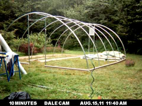 Building a Hoop House in 55 Seconds