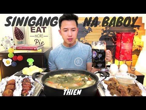 [mukbang/cookbang with THIEN]: Filipino Sinigang na Baboy, Balut, Lechon, Banana Cue, and Durian