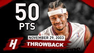 Throwback: Allen Iverson CRAZY Full Highlights vs Hawks 2003.11.29 - 50 Points!