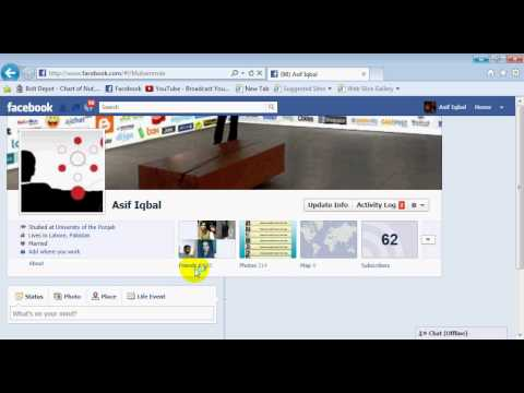 How To Hide Your Friends List on Facebook Urdu 2012