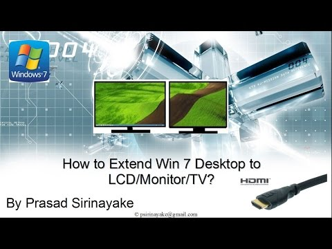 How to Extend Windows 7 Desktop to LCD TV