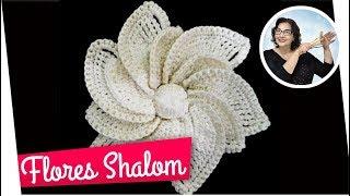 FLORES EM CROCHÊ SHALOM