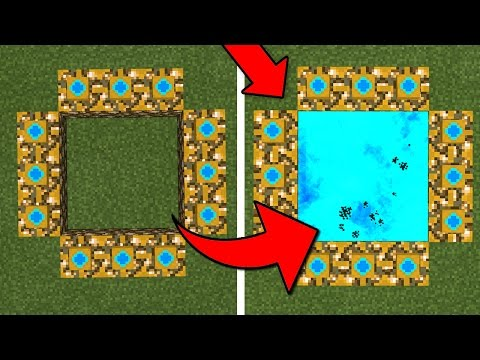 How To Make an Aether Portal in Minecraft Pocket Edition (Aether Dimension Addon)