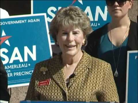 Susan Pamerleau Press Event Bexar County Courthouse