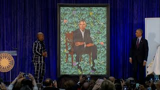 Raw Video: Obama Portraits Unveiled At Smithsonian
