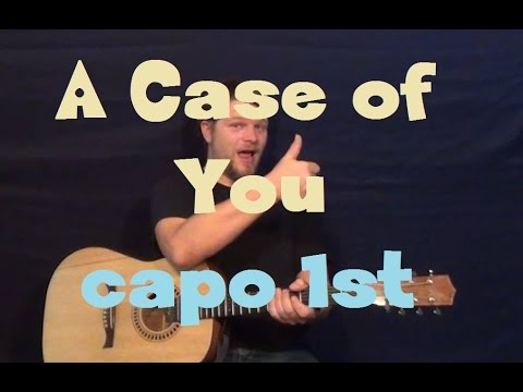 A Case of You (Joni Mitchell/James Wolpert)  Guitar Lesson with Licks in TAB