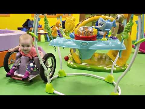 CUTE Baby's parents make a DIY wheelchair after she is paralysed by a tumour on her spine