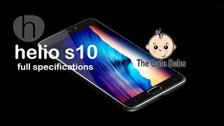 Helio S10 | Full Specifications | Price in Bangladesh | Android | Smart Phone | Upcoming Phone | TCB