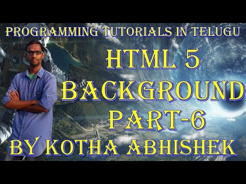 how to change background in html in telugu