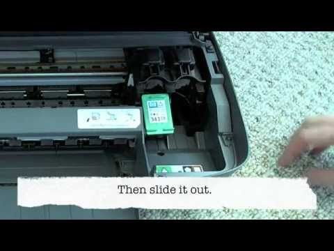 HP Photosmart 2575 - Changing the cartridges
