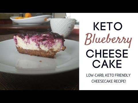 KETO RECIPES | Keto Blueberry Cheesecake, How to Make Low Carb Cheesecake Recipe