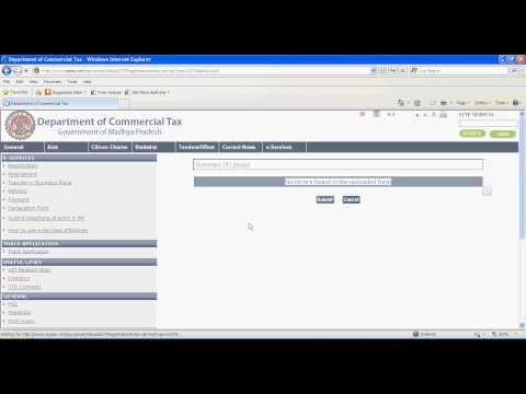 Procedure of Online Application for CST Registration