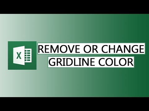 Remove gridlines or change their color in Excel