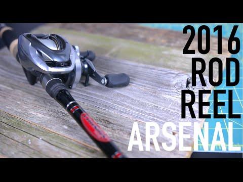 Bass Fishing Rod & Reel Arsenal -- 2016 Edition.