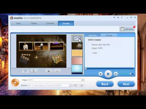 Tutorial on how to convert mp4 to dvd with DVDFab DVD Creator