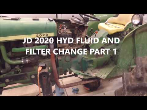 JD 2020 HYD FLUID AND FILTER CHANGE PART 1