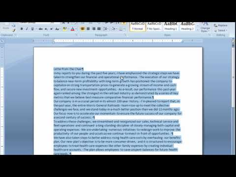 Adjusting Space Between Paragraphs In Microsoft Word