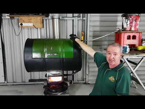 Waste oil Cooker .. Free heat from used oil.