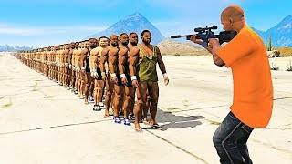 Download HOW MANY PEOPLE Can 1 BULLET Kill in GTA 5 Video
