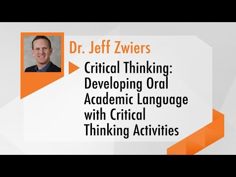 Developing Oral Academic Language with Critical Thinking Activities