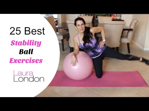 25 Best Stability Ball Exercises | Laura London Fitness
