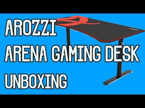 Arozzi Arena Gaming Desk - Unboxing/Setup!