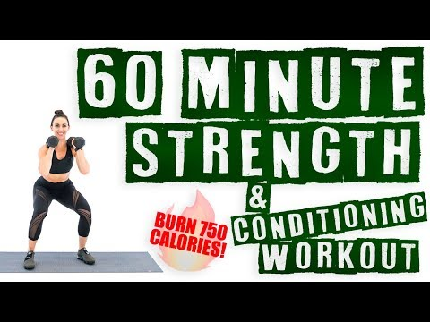 60 Minute Strength and Conditioning Workout 🔥Burn 750 Calories! 🔥