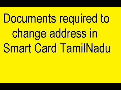 Documents required to change address in ration card TamilNadu