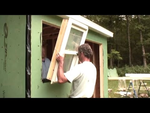 Installing a windows & door shed