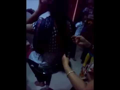 Bhuvana's long hair cut short at parlor