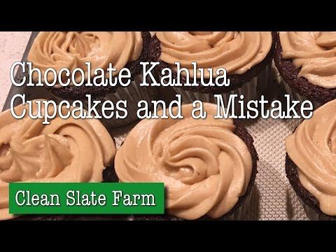 Chocolate Kahlua cupcakes with Kahlua espresso frosting